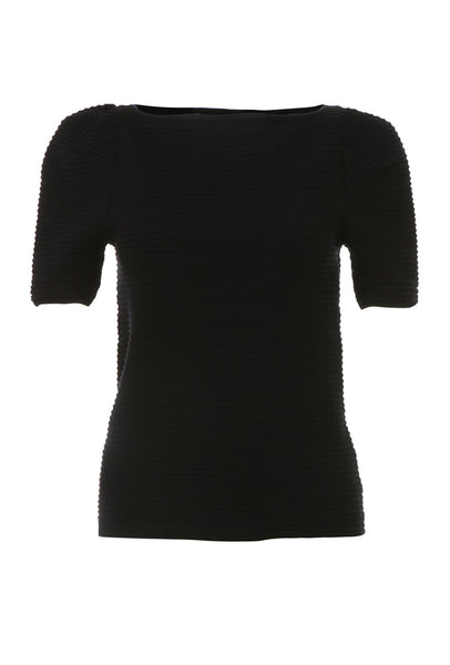 Black fitted top - AETERNA STYLE