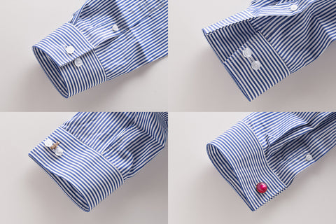 Guide to better men 39 s dress shirt cuffs hugh crye for Mens shirts with cufflink holes