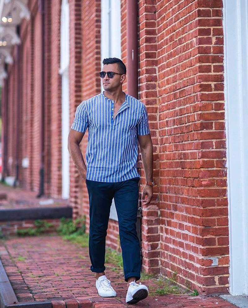 Popover short-sleeve Hugh & Crye Egyptian cotton