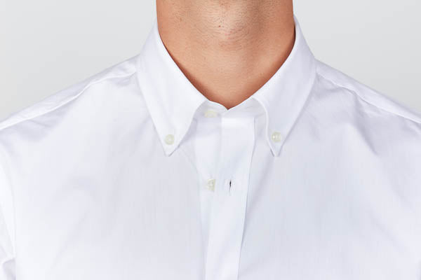 standard button-down collar men's dress shirt