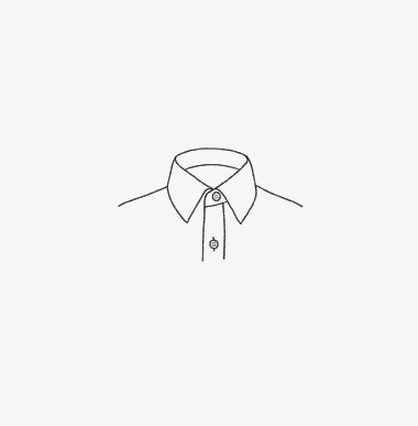 Illustration of a dress shirt collar
