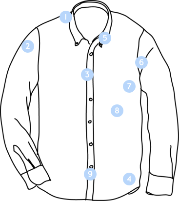 Illustration of a dress shirt