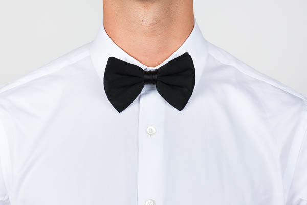 Club collar shirt with a black bowtie