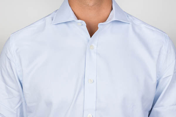Sewn interlining of a dress shirt