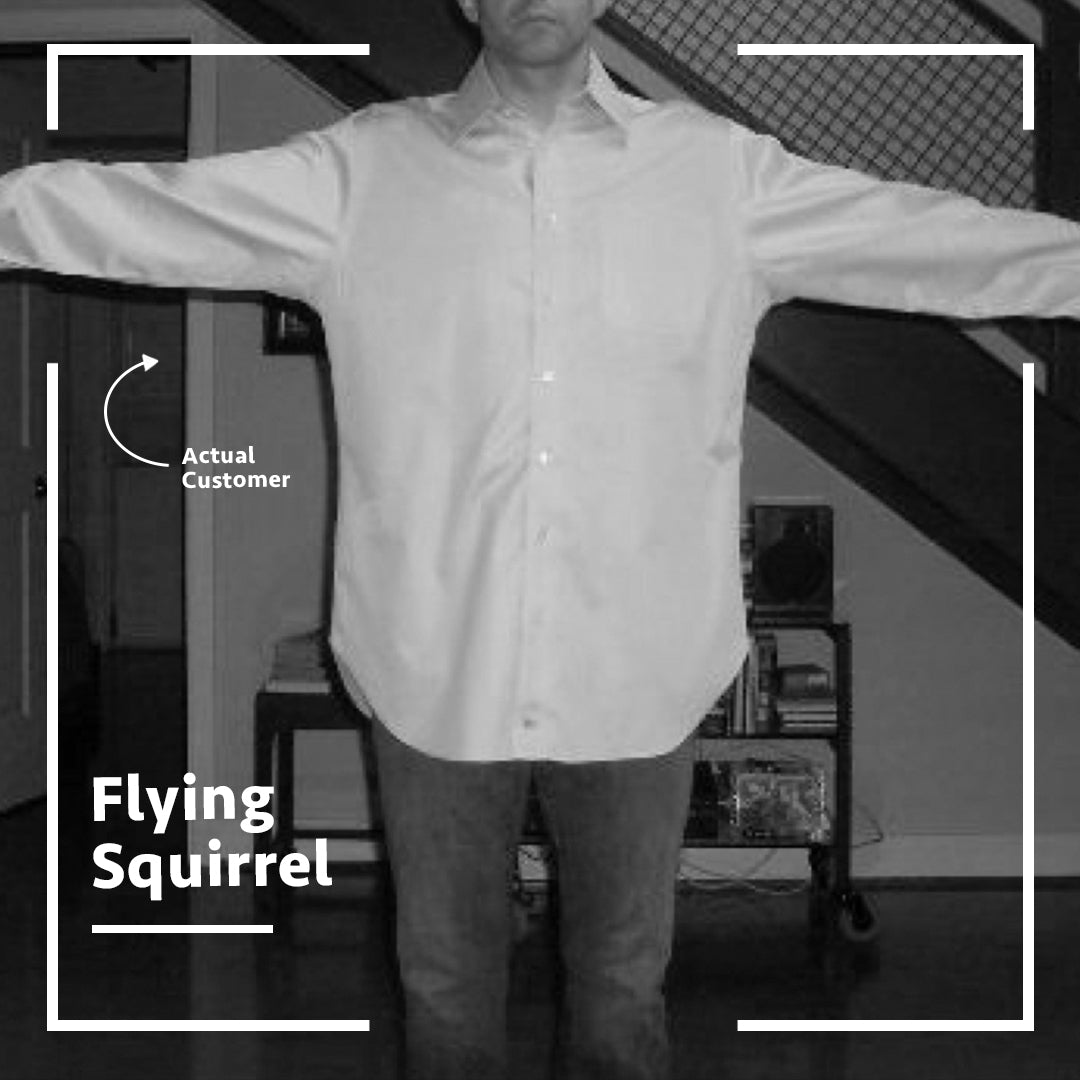 dress shirt fit problems flying squirrel