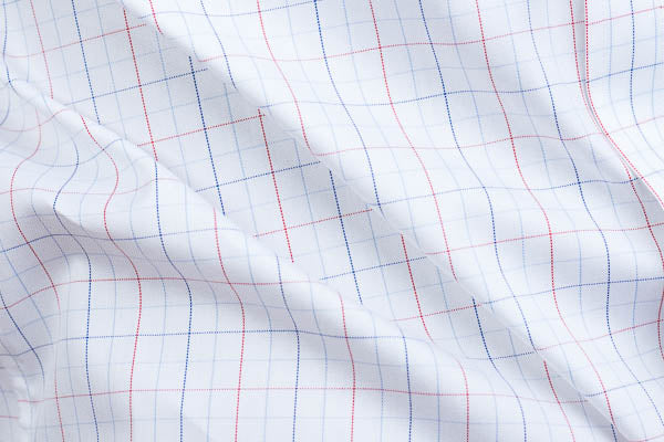 Close up of oxford weave on a men's dress shirt