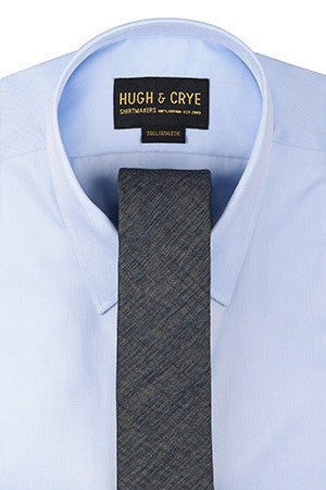 Agency Blue-Grey Pattern Tie – Hugh & Crye - 1
