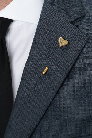 'B' Heart Lapel Pin – Hugh & Crye