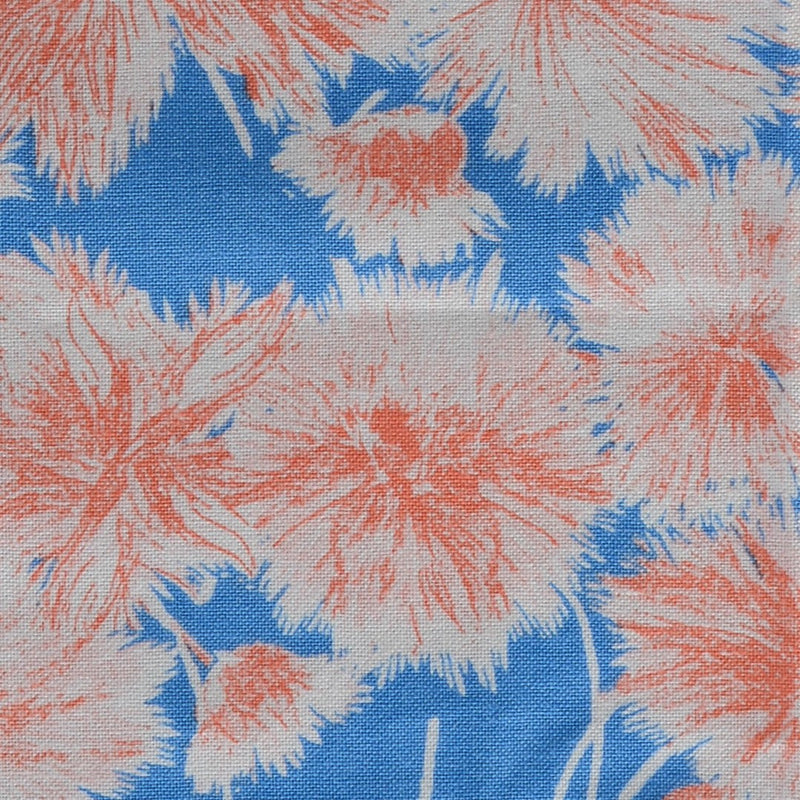 Blue & Orange Flower Bracts Pocket Square Feature