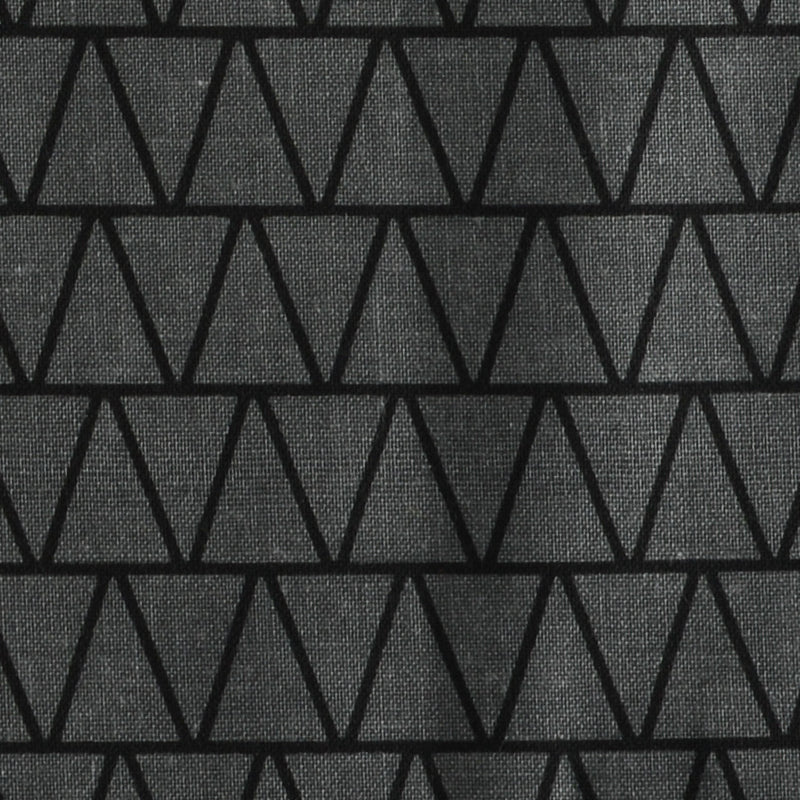 Charcoal & Black Triangle Pattern Bricolage Pocket Square Feature