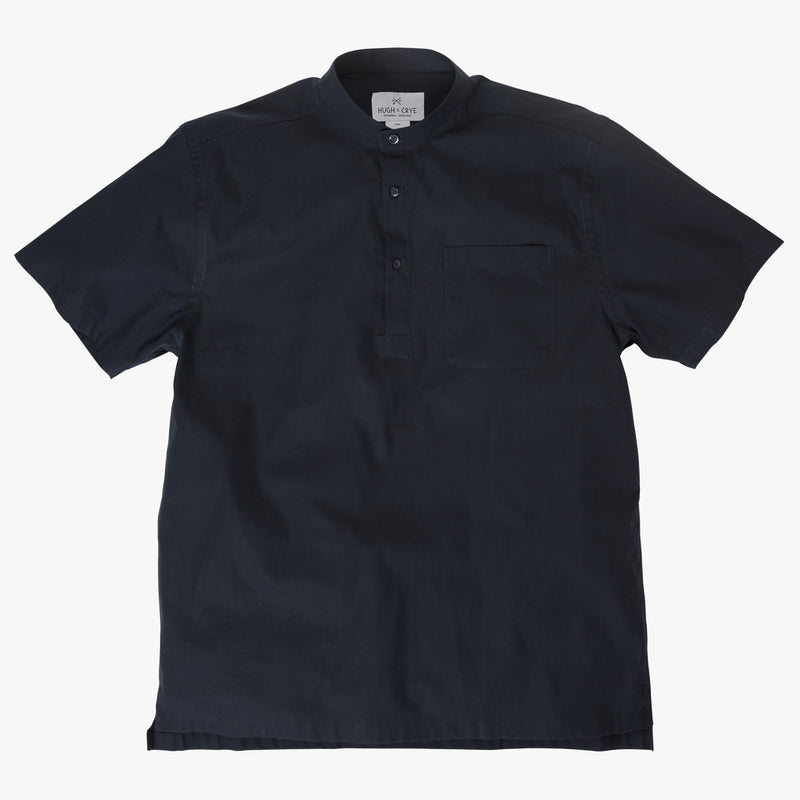 Band Collar popover in solid navy poplin - Bond - Splay
