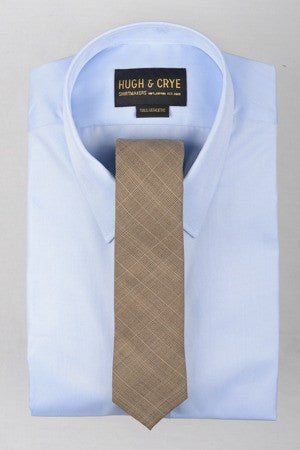 Agency Brown Glen Plaid Tie – Hugh & Crye - 1