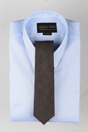 Agency Brown Pattern Tie – Hugh & Crye - 1