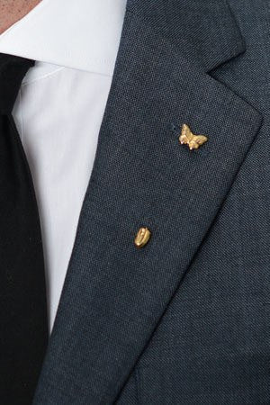 Butterfly Lapel Pin – Hugh & Crye - 1