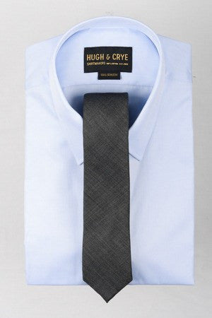 Agency Charcoal Sharkskin Tie – Hugh & Crye - 1