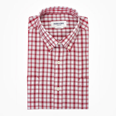White red check brushed twill shirt - Pullman