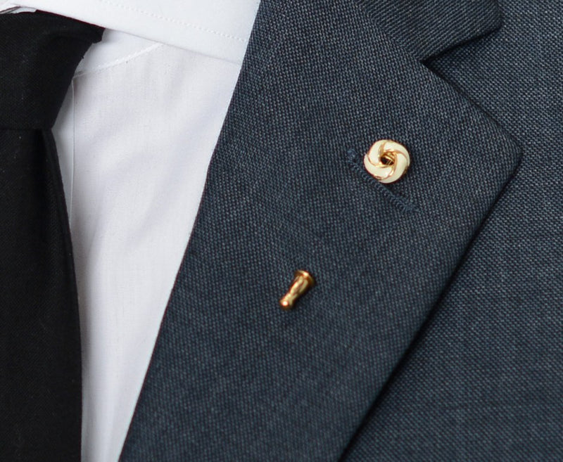 Cream Crest Lapel Pin – Hugh & Crye - 3