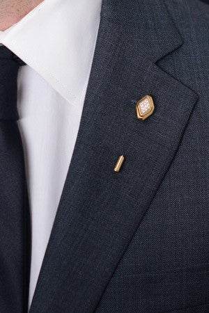 Diamond Lapel Pin – Hugh & Crye