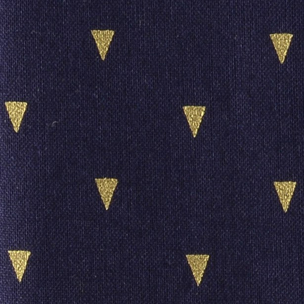 Navy With Gold Triangles Print Enfilade Pocket Square Feature