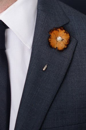 Feather Lapel Pin – Hugh & Crye