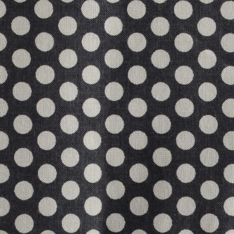 Charcoal With White Polka Dots Print F-Stop Pocket Square