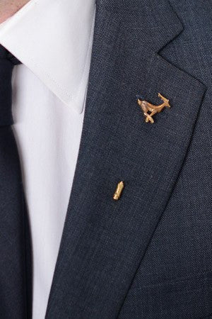 Gazelle Lapel Pin – Hugh & Crye