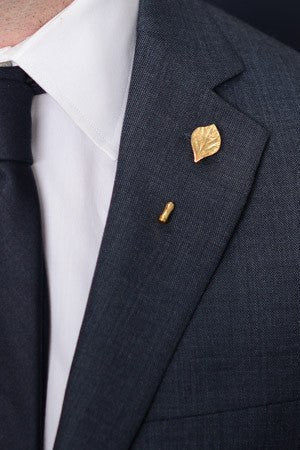 Gold Leaf Lapel Pin – Hugh & Crye