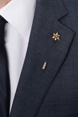 Golden Flower Lapel Pin – Hugh & Crye