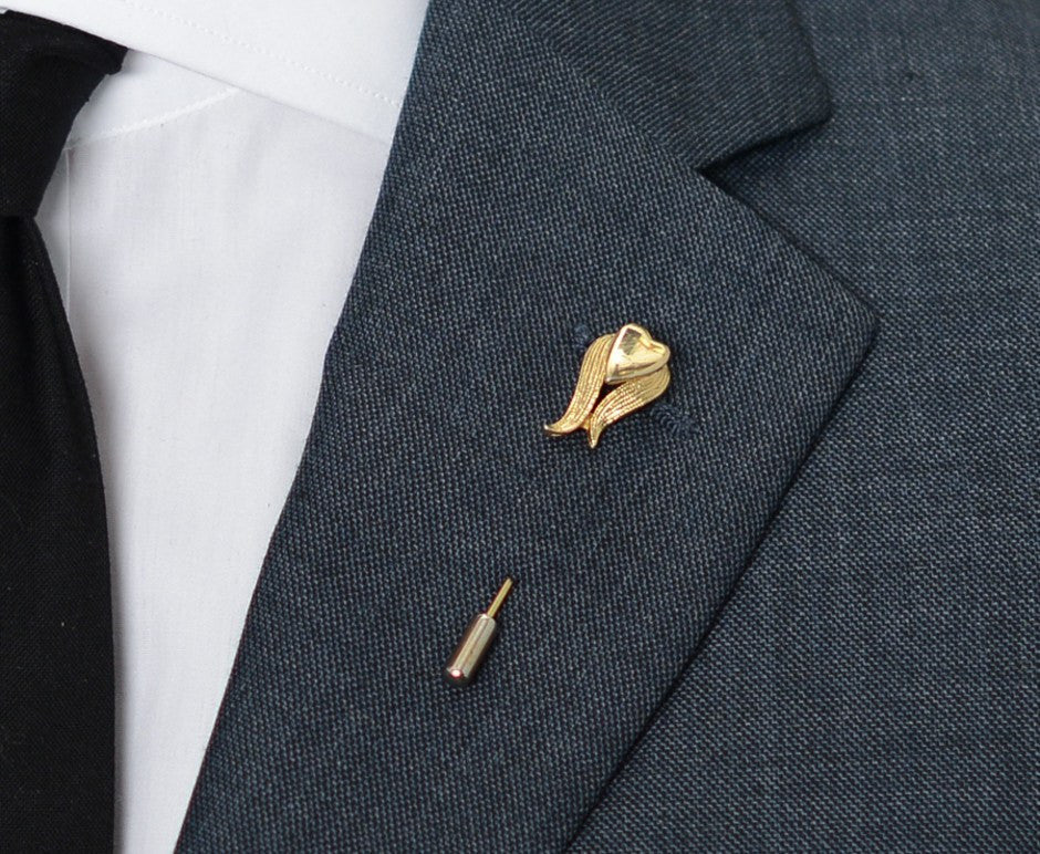 Gold Flower Lapel Pin – Hugh & Crye - 3