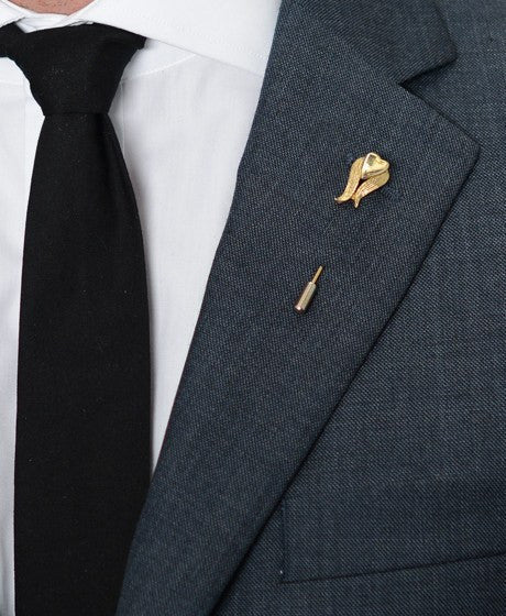 Gold Flower Lapel Pin – Hugh & Crye - 2