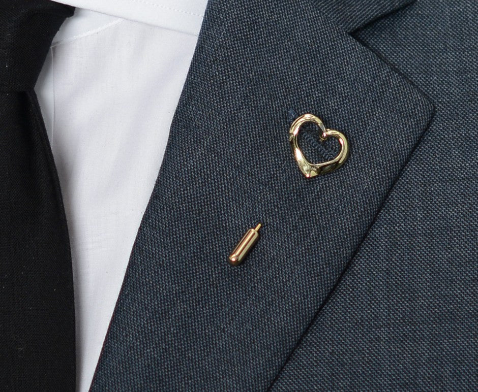 Gold Heart Lapel Pin – Hugh & Crye - 3