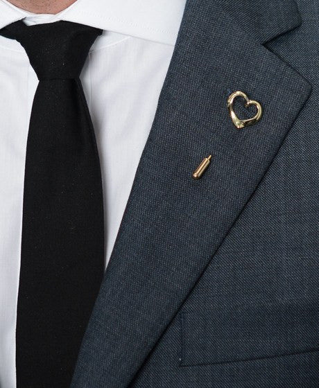 Gold Heart Lapel Pin – Hugh & Crye - 2