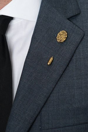 Gold Shield Lapel Pin – Hugh & Crye - 1