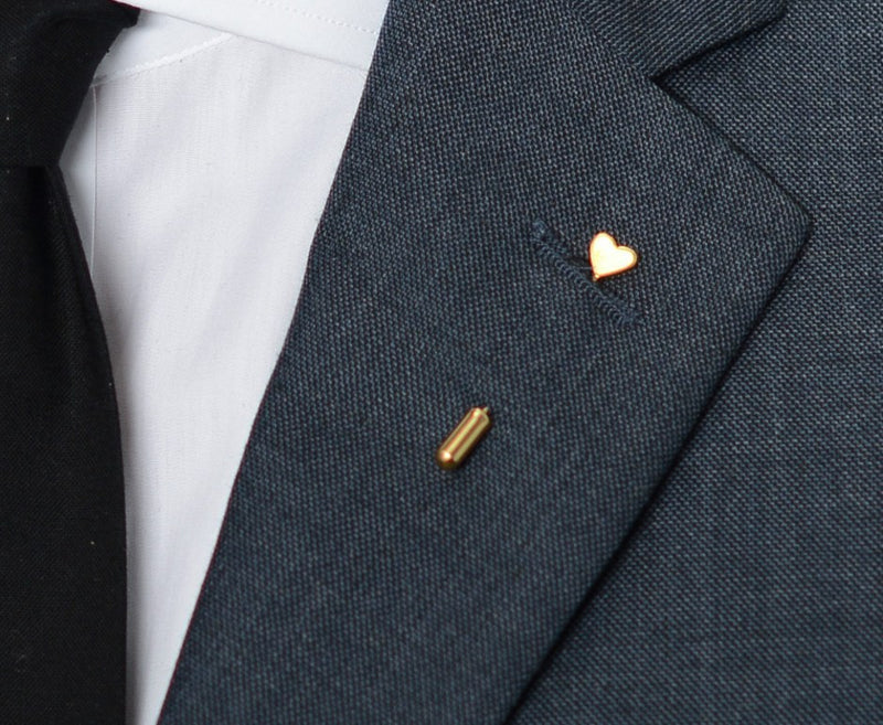 Golden Heart Lapel Pin – Hugh & Crye - 3