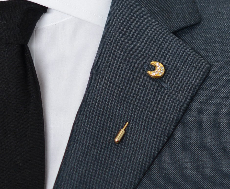 Half Moon Lapel Pin – Hugh & Crye - 3