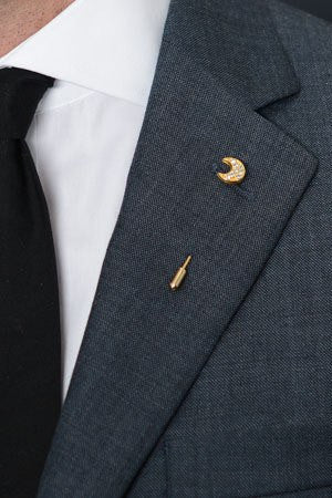 Half Moon Lapel Pin – Hugh & Crye - 1
