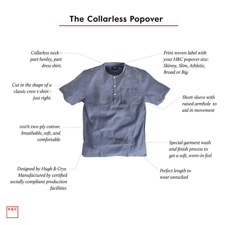 collarless popover anatomy