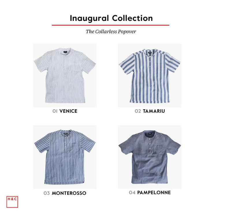 collarless popover collection