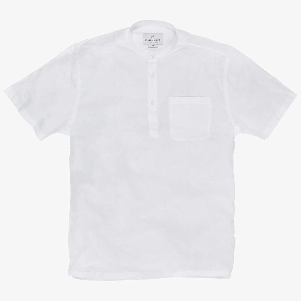 Band Collar popover in white twill - Lynd - Splay