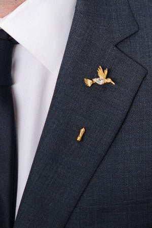 Mockingjay Lapel Pin – Hugh & Crye