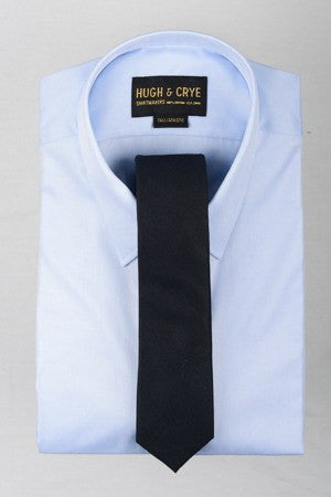 Agency Navy Sharkskin Tie – Hugh & Crye - 1