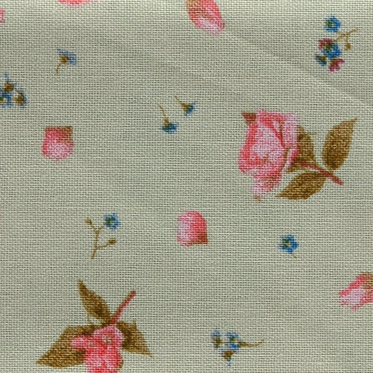 Green with Pink & Blue Flowers Parterre Pocket Square Hugh & Crye