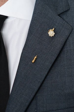 Pearl Flower Lapel Pin – Hugh & Crye - 1