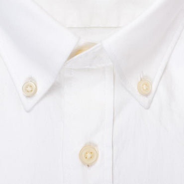 Silo White Oxford Cloth Button-Down Shirt Collar