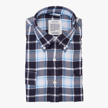 Indigo White Plaid - Medium Weight Field Shirt