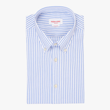 Silo Blue Stripe Oxford Cloth Button-Down Shirt
