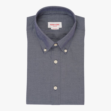 Silo Dark Indigo Chambray Oxford Button-Down Shirt