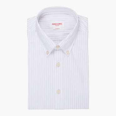 Silo Gray Stripe Oxford Cloth Button-Down Shirt