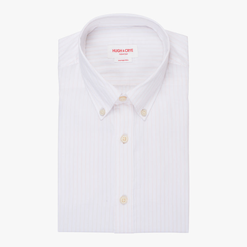 Silo Pink Stripe Oxford Cloth Button-Down Shirt