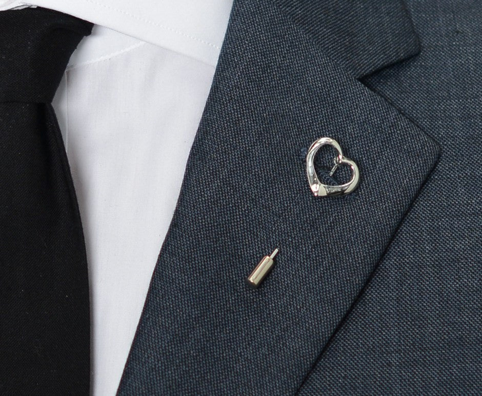Silver Heart Lapel Pin – Hugh & Crye - 3